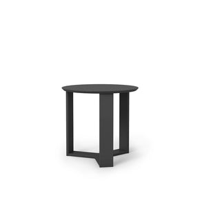 Madison 2.0- 23.85 Round Accent End Table In Black Gloss Side