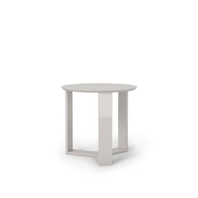 Madison 2.0- 23.85 Round Accent End Table In Off White Side