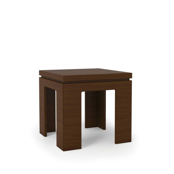 Bridge 1.0- 21 Square Length Modern Nut Brown Accent End Table Side