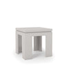 Bridge 1.0- 21 Square Length Modern Off White Accent End Table Side