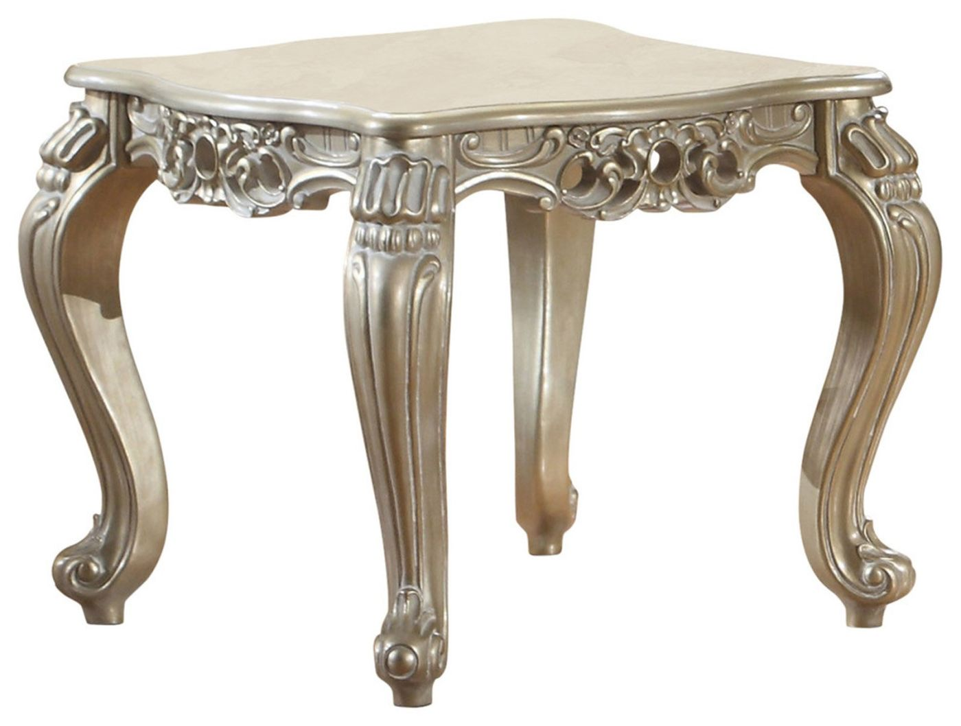 Cesar Traditional Side Table Silver ...