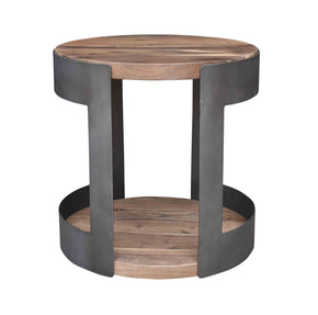 April Round Industrial Chic Side Table