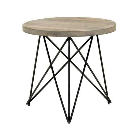 Canvas Accent Table Smoke Gray Elm Side