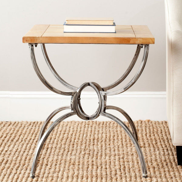 Alvin End Table Natural Color Side