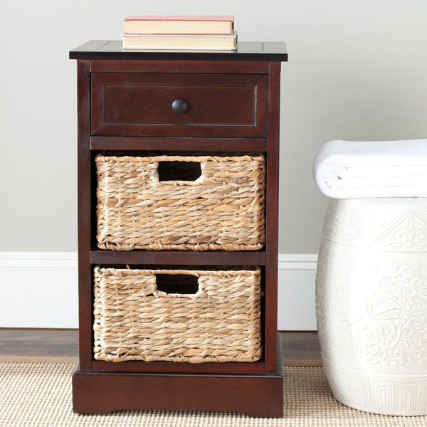 Side Tables - Safavieh AMH5700D Carrie Side Storage Side Table Dark Cherry | 683726470076 | Only $164.80. Buy today at http://www.contemporaryfurniturewarehouse.com