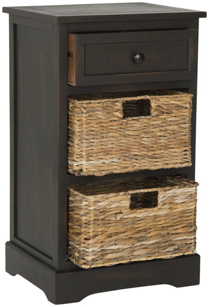 Carrie Side Storage Table Brown