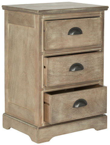 Griffin 3 Drawer Side Table Washed Natural Pine