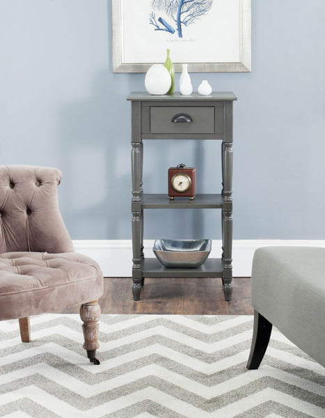 Chucky Accent Table With Storage Grey Side