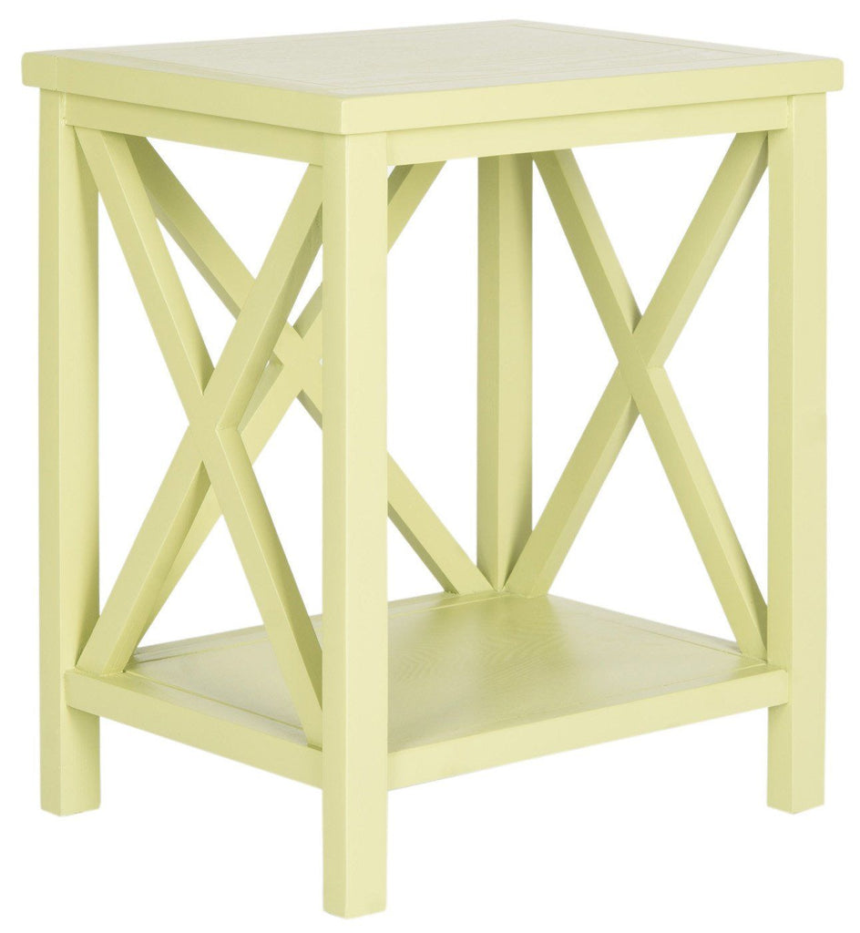 Candence Cross Back End Table Split Pea Side