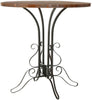 Avery Accent Table Black Iron/ Brown Pine Side