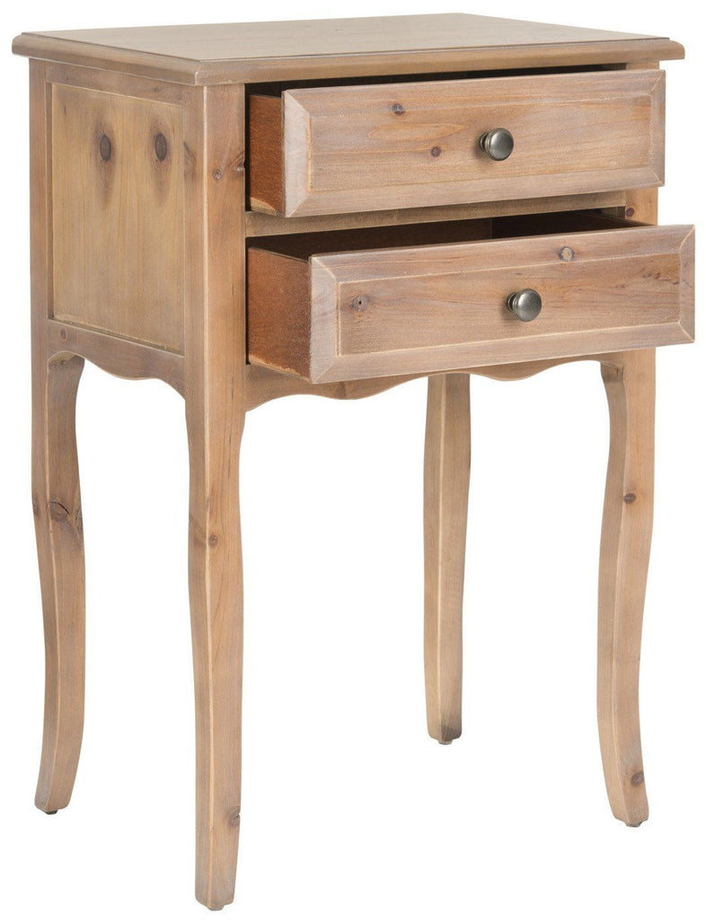 Lori End Table With Storage Drawers Red Maple Side