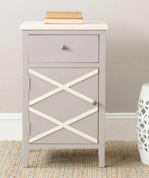 Alan End Table Grey Side