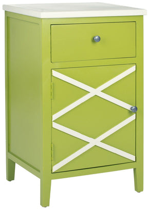 Alan End Table Lime Green Side