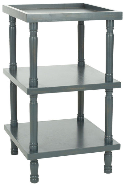 Esmeralda 3 Tier Side Table Steel Teal