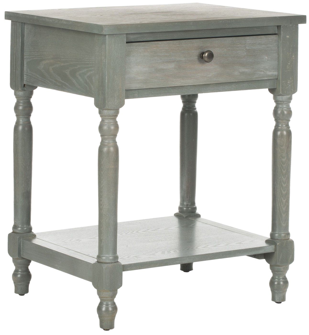 - Buy Safavieh AMH6604B Tami Accent Table With Storage Drawer French Grey At  Contemporary Furniture Warehouse
