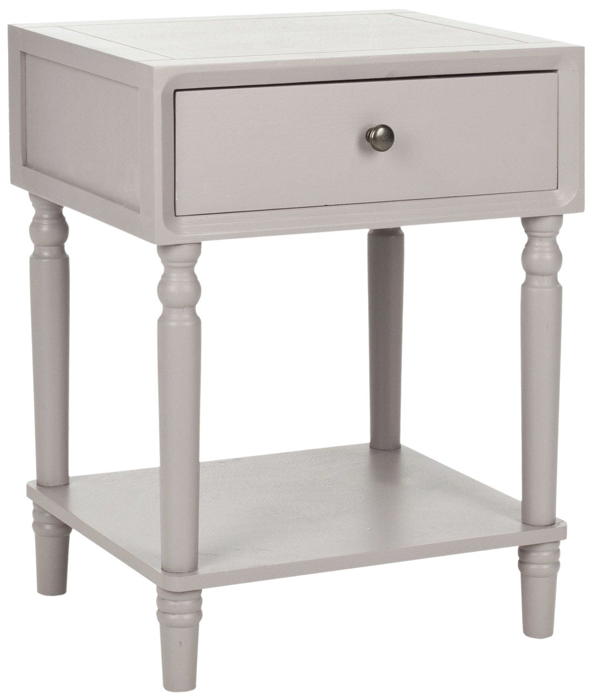 - Buy Safavieh AMH6611C Siobhan Accent Table With Storage Drawer Quartz Grey  At Contemporary Furniture Warehouse