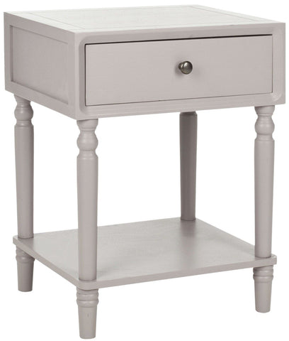 Siobhan Accent Table With Storage Drawer Quartz Grey Side