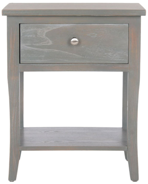 Coby End Table With Storage Drawer French Grey Side