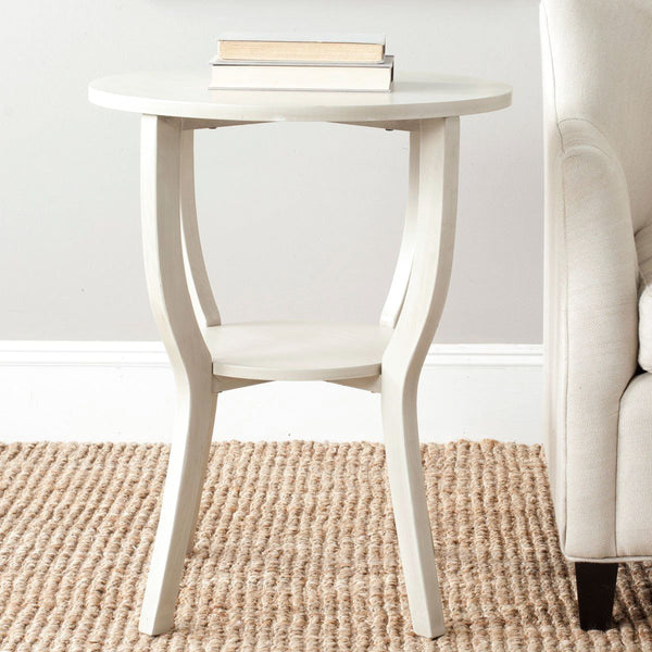 Rhodes Accent Table Antique White Side