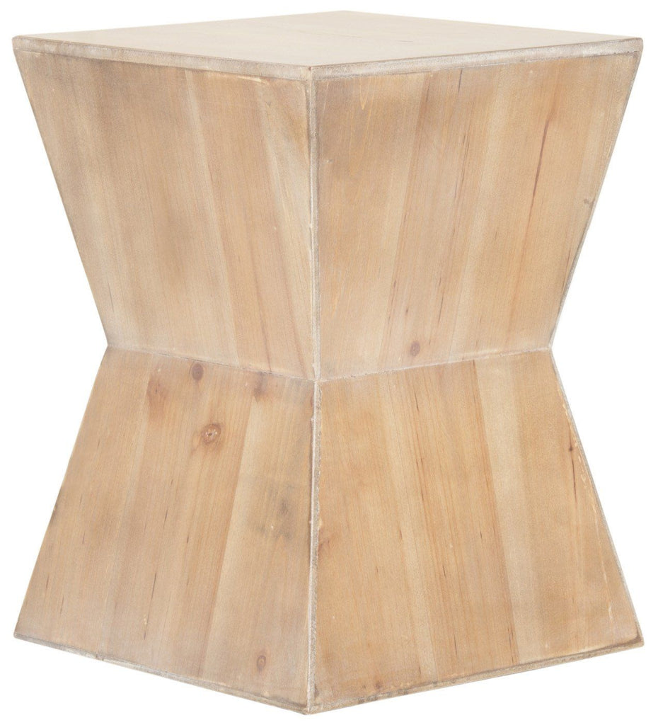 Lotem Accent Table Red Maple Side