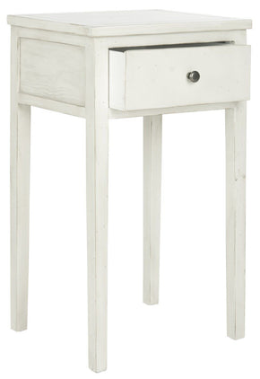 Abel End Table With Storage Drawer White Birch Side