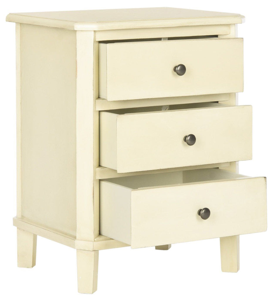 Joe End Table With Storage Drawers Barley Side