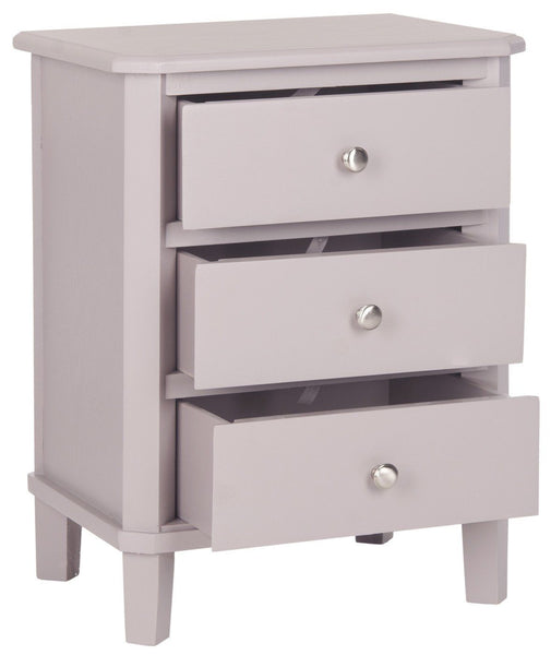 Joe End Table With Storage Drawers Quartz Grey Side