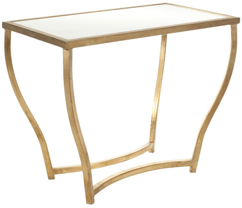 Rex Accent Table White/ Gold Legs Side