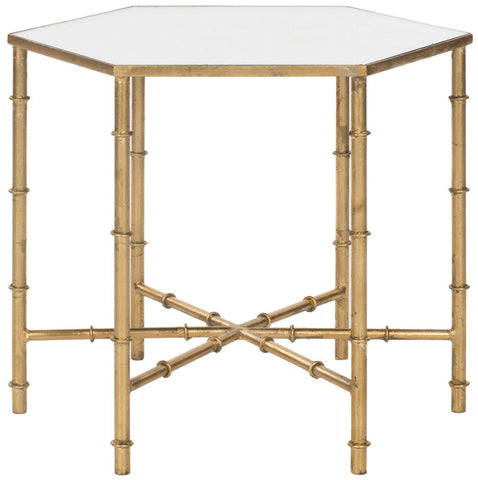 Kerri Accent Table Gold/mirror Top Side