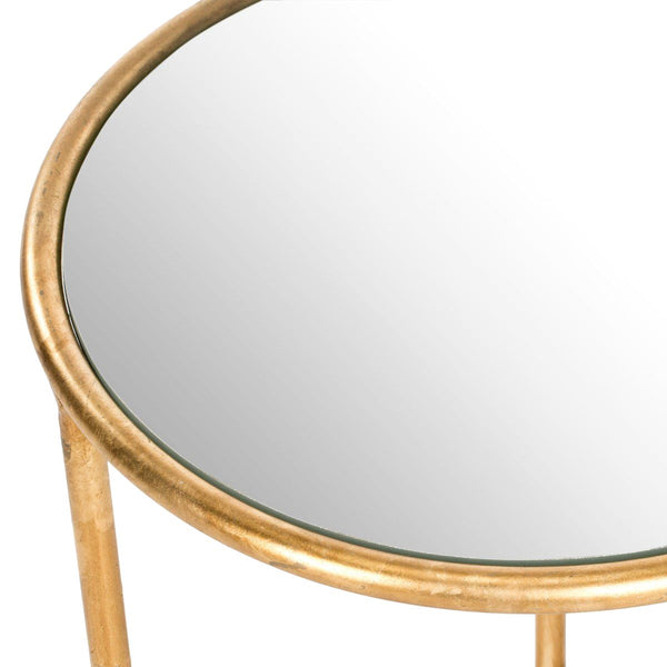 Shay Accent Table Gold/mirror Top Side