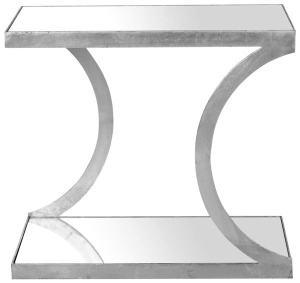 Sullivan Accent Table Silver/mirror Top Side