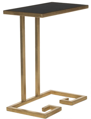 Murphy Accent Table Gold/black Glass Top Side