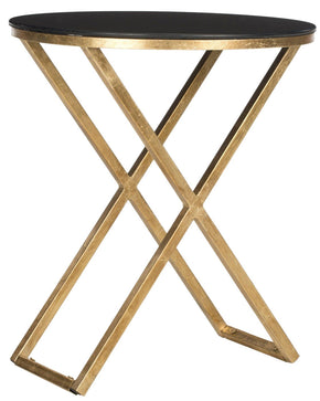 Riona Accent Table Gold/black Glass Top Side