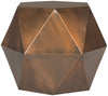 Astrid Faceted Side Table Copper