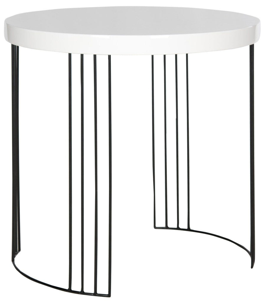 Kelly Lacquer Side Table White