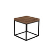 Prairie 20X20 End Table Walnut Top / Black Legs