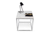 Prairie 20X20 Marble End Table White Marble Top/Chrome Legs