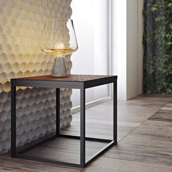 Sigma Industrial Side Table Oxide Ceramic / Black