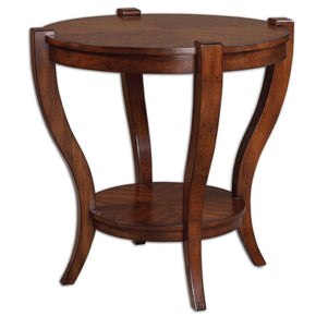 Bergman Round End Table Side