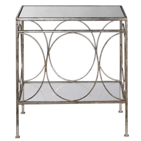 Luano Silver End Table Side