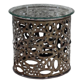 Zama Industrial Accent Table Side