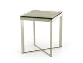 Modrest Santiago Modern Rectangular Wood Mosaic End Table Side