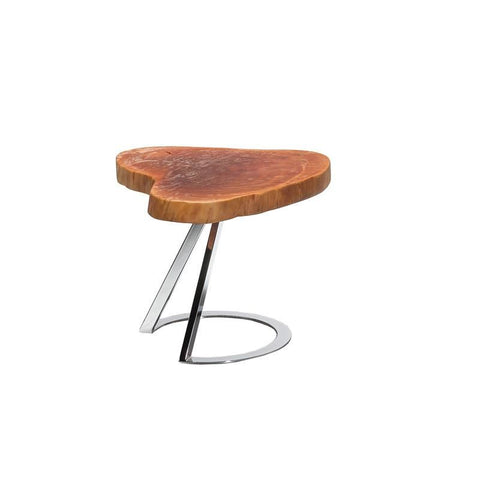 Modrest Lynden Modern Live Edge Wood End Table Side