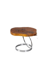 Modrest Spokane Modern Live Edge Wood End Table Side