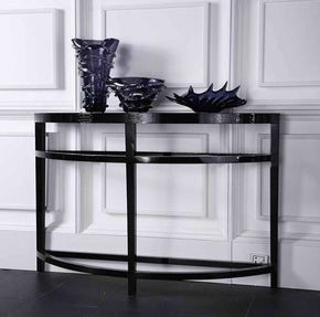 A&x Half Moon Console Table Side