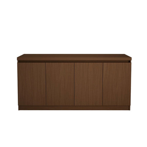Sideboards - Manhattan Comfort MHC-100672 Viennese Buffet/ Sideboard Table in Nut Brown | 7898357113145 | Only $456.40. Buy today at http://www.contemporaryfurniturewarehouse.com