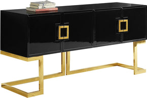 Beth Buffet Gold / Black Lacquer Sideboard