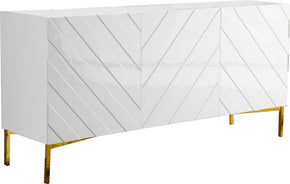 Sideboards - Meridian 310 Collette Buffet Gold / White Lacquer | 647899948466 | Only $1144.80. Buy today at http://www.contemporaryfurniturewarehouse.com
