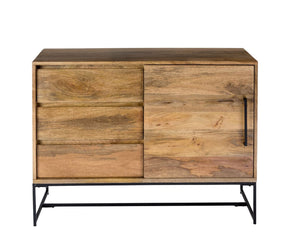 Colvin Side Board Solid Mango Wood Iron Sideboard