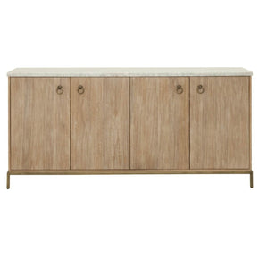 Carrera Sideboard Stone Wash White Marble